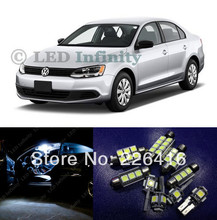 Free shipping,For 2012-2013 Volkswagen VW Jetta MK6 converted special LED reading light White 8piece/set with canbus(China (Mainland))