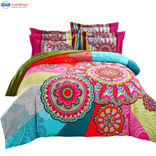 bohemia duvet cover set winter comforter cover bedsheet Pillowcase 4pc bedding sets full queen king size 100% Cotton Bedlinen 3d(China (Mainland))