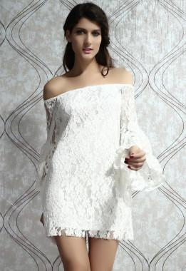 Vestido de Festa Rendado Branco