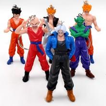Free shipping Japanese anime cartoon Dragon Ball Z Super Saiyan Monkey keychain birthday gift toy dolls and collectibles