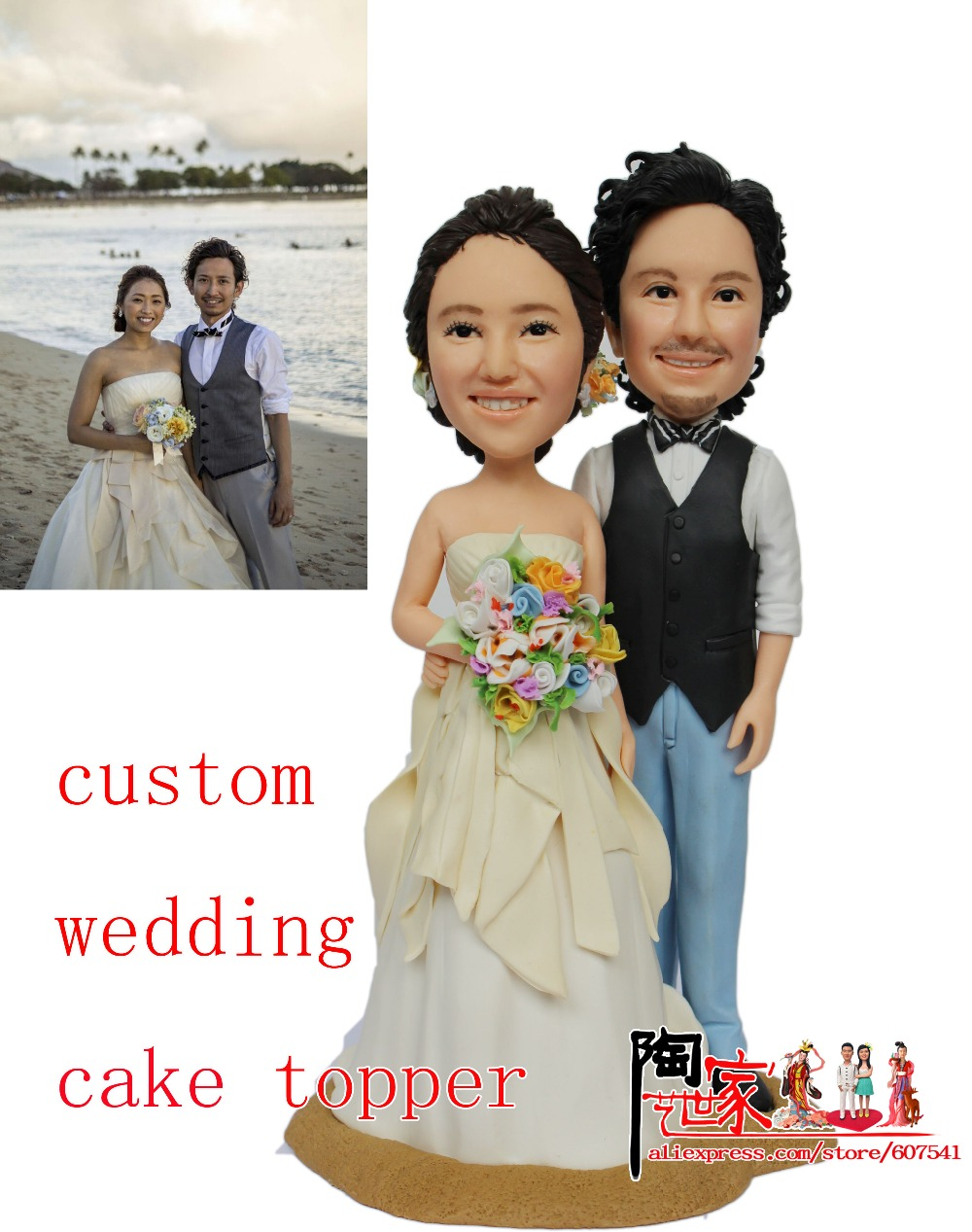 2016 Frozen Christmas Gift Wedding cake toppers wedding favors and gifts cake toppers birthday cakes bobblehead doll(China (Mainland))