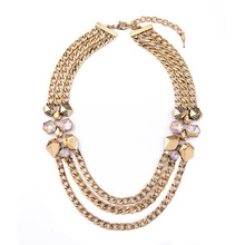 My Order Brand Designer Power Necklace Concise Style Exclusive Multilayer Chain Christmas Jewelry(China (Mainland))