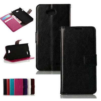 L90 Retro Wallet Leather Case For LG L90 Noble Phone Bag Cover with Stand Card Holder Vintage Style(China (Mainland))