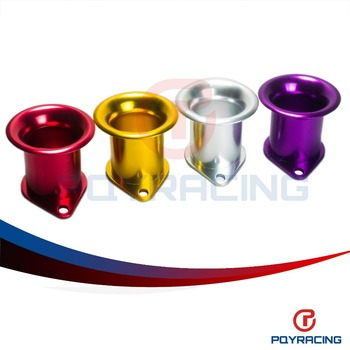 PQY STORE- Aluminum turbo flange Turbo Inlets-BOV Botton Inlet blow off valve adapter SILVER,PURPLE,RED,GOLD PQY5754