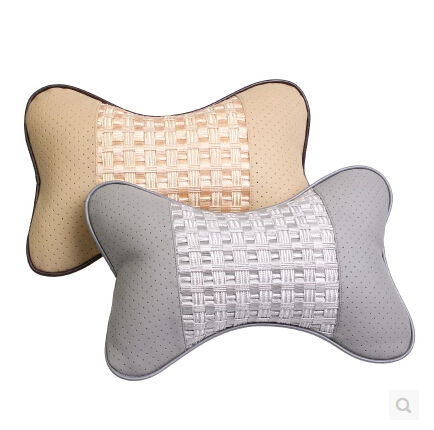 car headrest linen neck headrest car seat cushion vehienlar plaid car pillow, car seat covers<br><br>Aliexpress