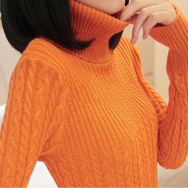 2016 мода весна и осень женщины свитер сплошной пуловер трикотажные стандартный с ...