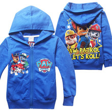 Hot Cartoon Boys Hoodies Long Sleeve Brand Children Clothing Zipper Pull Garcon Plush Baby Patrol Costume For Baby Boys 3-8 Age