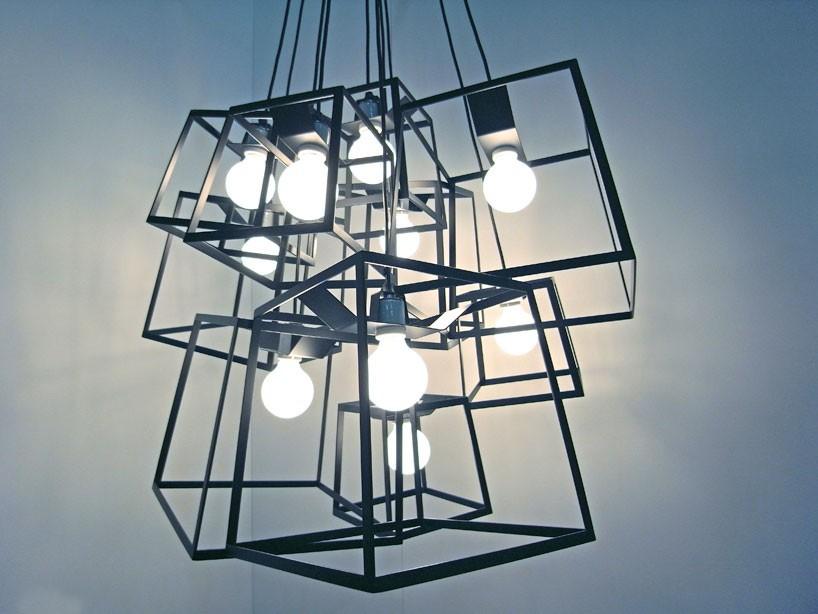 Großhandel Moderne Cube Box Frame Pendelleuchten Geometrische ...