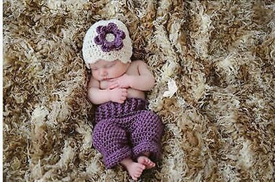 Princess Purple Color hat + trousers for Newborn Baby Photography Props Handmade Costume Knitted Crochet Photo Baby Hats Caps(China (Mainland))