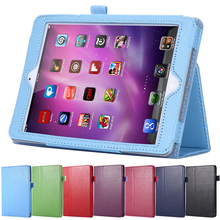 For iPad Air Hot Sale Luxury Wallet Flip Stand Fold Wallet PU Leather Case For iPad 5 Air Lychee Pattern Book Style Cover Bags(China (Mainland))