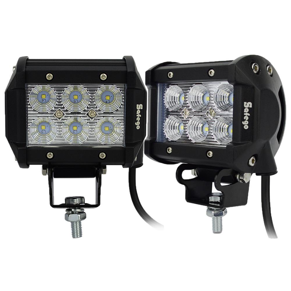 2pcs 4 INCH LED BAR 18W CREE LED WORK LIGHT bar fog lamp led OFFROAD light bar 4X4 ATV truck SUV Driving Headlight flood spot(China (Mainland))