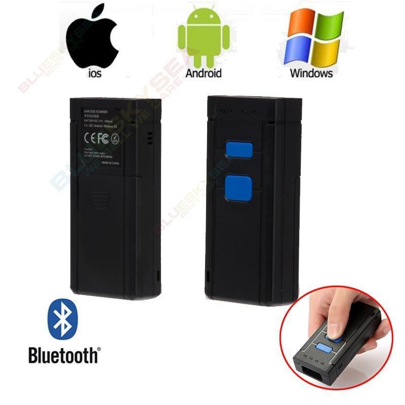 Newest Mini Portable Wireless Bluetooth Barcode Scanner for Apple iOS Android Win7 500 scan/s(China (Mainland))