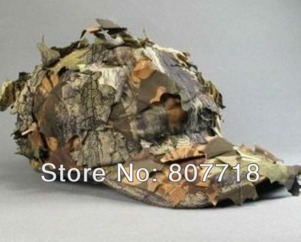 DHL 5 Baseball Cap Leaves Deciduous Bionic Camping Sport Hat Hiking CS War S7094 - E-Level Gift Limited store
