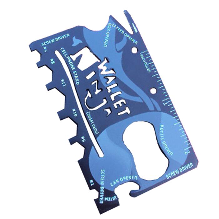 Wallet Ninja 18 In 1 Multi Purpose Credit Card Size Pocket Tool Screw Drivers Outdoor Knife