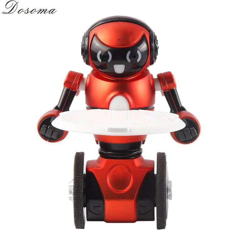 Rechargeable Remote Control Intelligent Robot toy Balancing unicycle dancing Battle induction electric toys for children(China (Mainland))