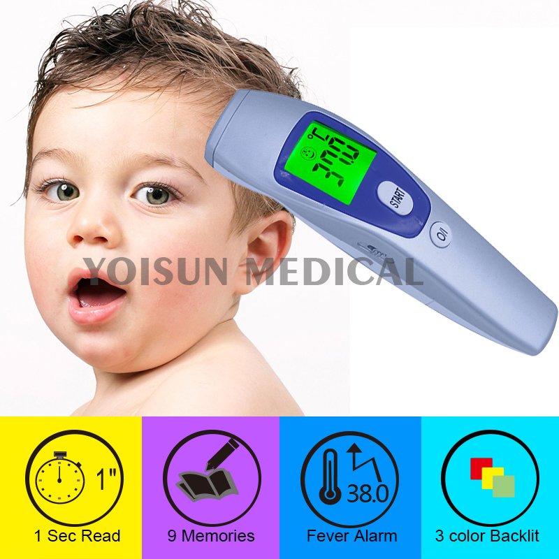 Baby/Adult Electronic Digital Multi-Function Medical Termometro Non Contact Forehead Body Infrared Thermometer YI-200(China (Mainland))