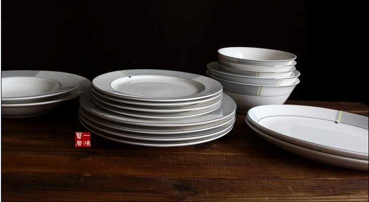 Foreign trade export porcelain ceramic bone china tableware new prime Iasi soup bowl plate porcelain dish fish bowl tableware(China (Mainland))