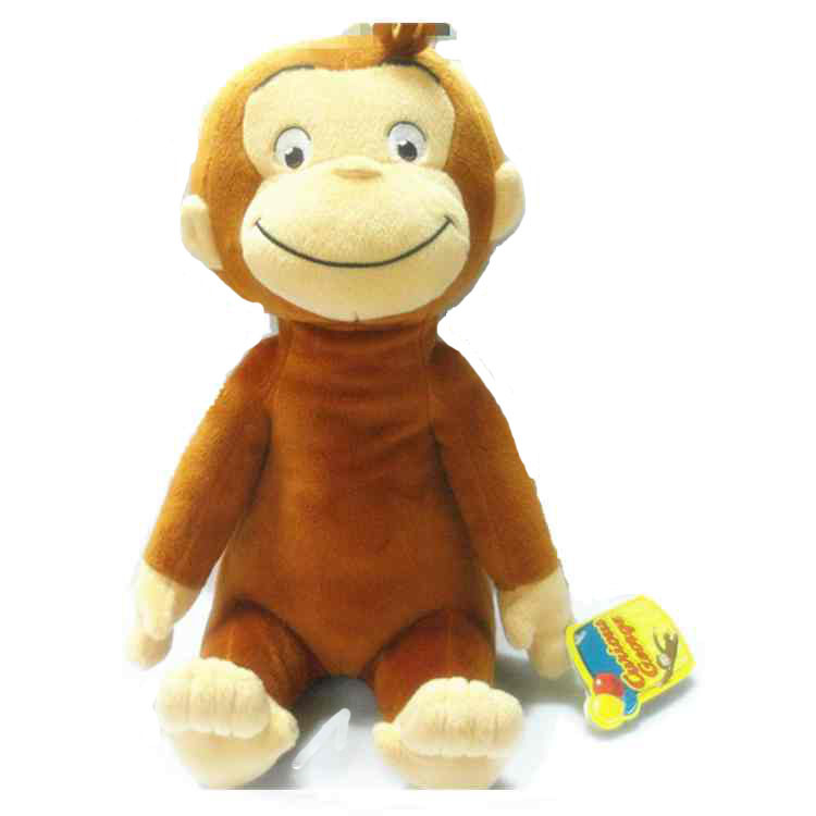 "12"" CURIOUS GEORGE PLUSH DOLL friend George MONKEY PLUSH stuffed animals Education TOY for Baby FREE SHIPPING(China (Mainland))"