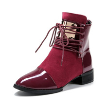 Buy 2017 New Genuine Leather Women Boots Flat Martin Ankle Boots Womens Motorcycle Autumn Winter Women Shoes Woman Plus Size 43 073 for $24.47 in AliExpress store