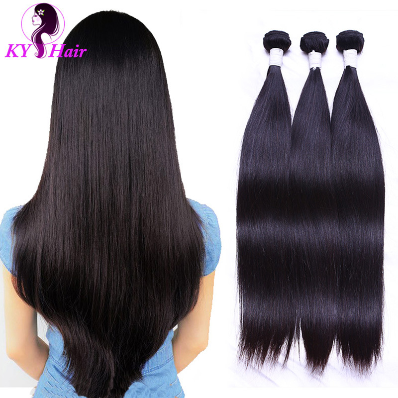 6A Brazilian Virgin Hair Straight 3 Bundles 100g Brazilian Straight Hair Soft And Vibrant Human Hair Extensions Free Shipping<br><br>Aliexpress