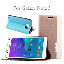 New Pearl Pearlescent Cross Pattern Leather Filp Case For Samsung Galaxy Note 5 Card Slots Wallet Stand Holder Cover(China (Mainland))