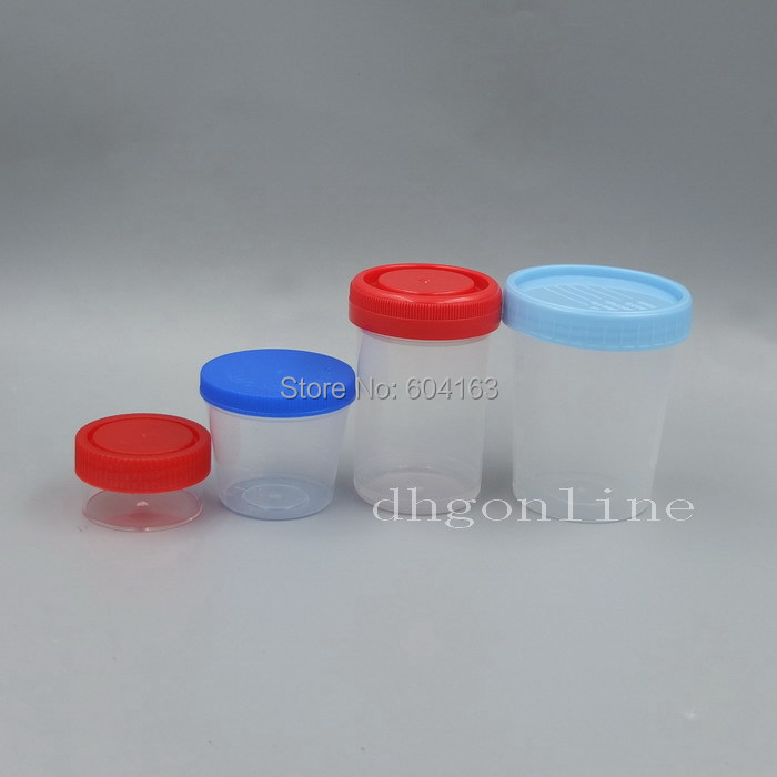 10 pcs 20ml 40ml 80ml 110ml specimen container jar Security screw cap sterile plastic(China (Mainland))