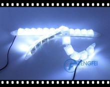 White Case Housing Universal 12W Bendable 12 LED Waterproof Flexible DRL Daytime Running Light DIY lengh 29cm-40cm(China (Mainland))