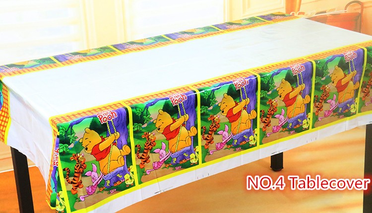 Lovely 108cm disposable Birthday tablecloth Cartoon Mickey princess crown kids happy birthday party plastic tablecover supplies