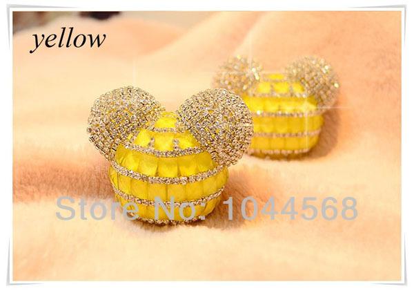 Supplies Auto Incense Outlet Perfume Yellow Mickey Car Perfume Seat 100 original perfumes QX012-2(China (Mainland))
