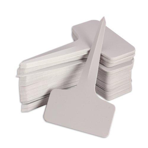 PHFU Wholesale 100/200/300/500 pcs 6 x10cm Plastic Plant T-type Tags Markers Nursery Garden Labels Gray (200pcs)