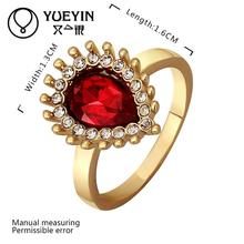 R561 Wholesale Cheap Price High Quality New Fashion Jewelry 18K Gold Plated Ruby Ring For Women