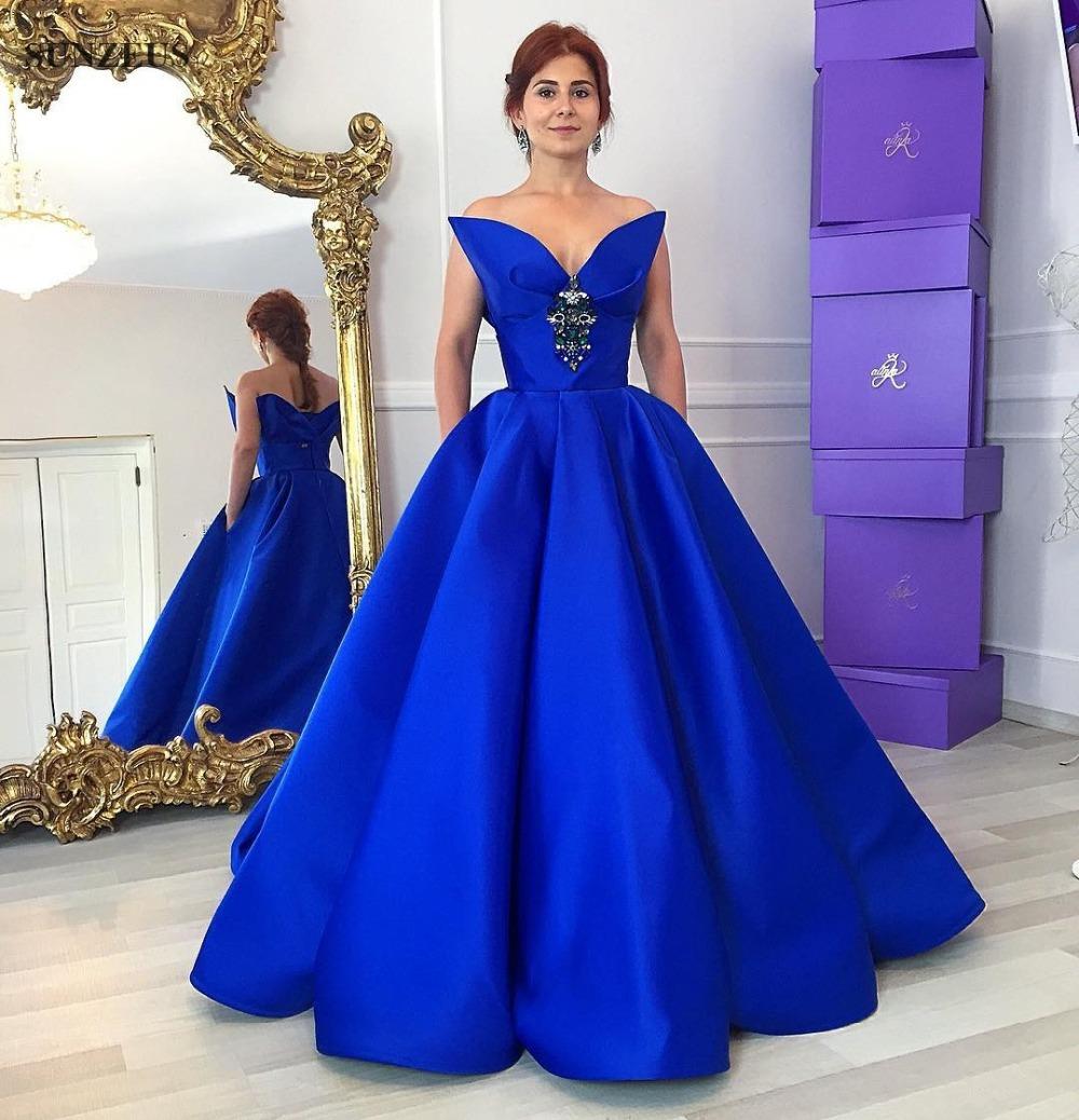 longos vestidos de renda azul royal vender por atacado ...
