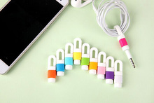 simple color mobile phone cable protector for iphone earphone/headset. 200pcs/lot(China (Mainland))