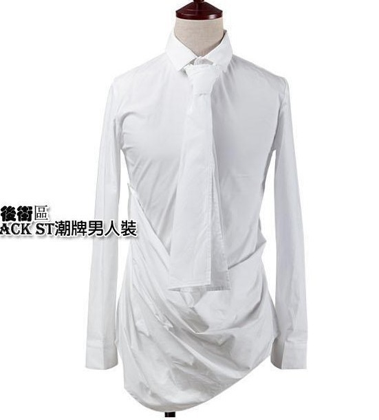 2014 New Men Shirt Casual Slim Fit Stylish Mens Dress Shirts Fashion black white - Luo's Store Focused on store
