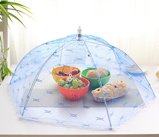 Food Covers Umbrella Style Anti Fly Mosquito Kitchen diameter 65cm C-33 cooking Tools meal cover Hexagon gauze table food cover(China (Mainland))