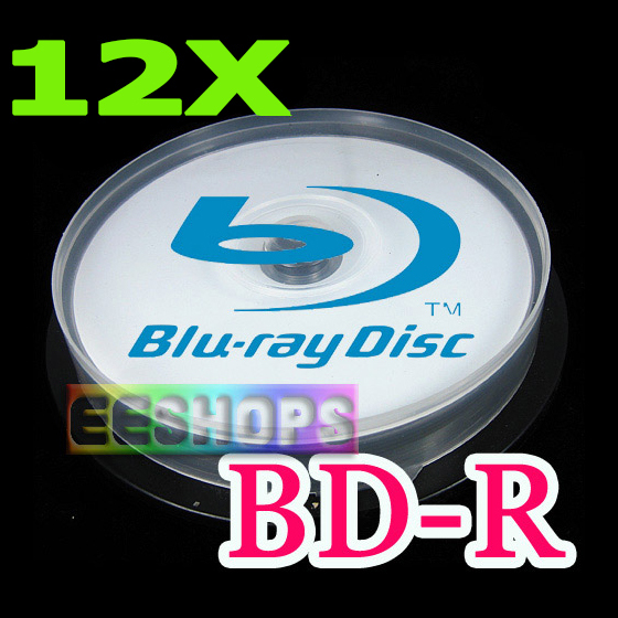 Cheapest Blu-ray Recordable Blank Disc 25GB 6X 12X 3D BD-R DL Printable Rewritable DVD Optical Discs Lot 10pcs Spindle Pack Case(Hong Kong)