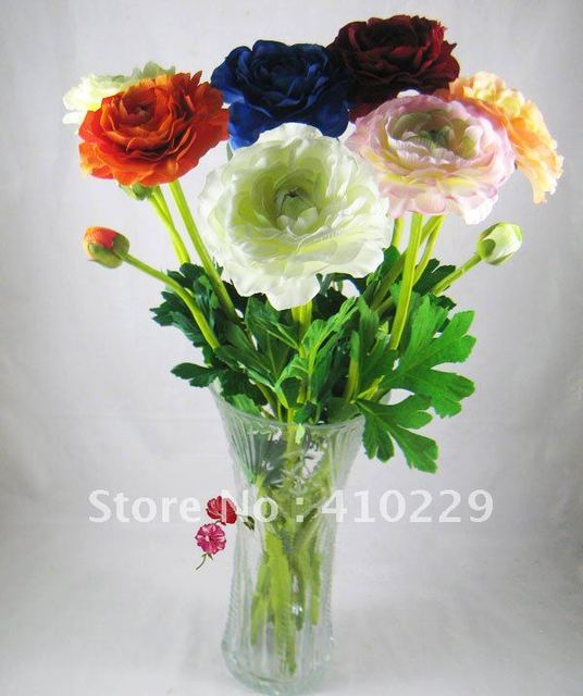 Free Shipping (10pcs/lot) 7 Colors 2 Head Tea Rose Artificial Flower, Wedding & Home Decoration