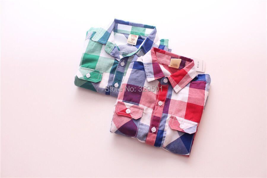 2015 summer kids cotton shirts children plaid shirt kids blouses boy shirts blouse for the school kids fashion shirts