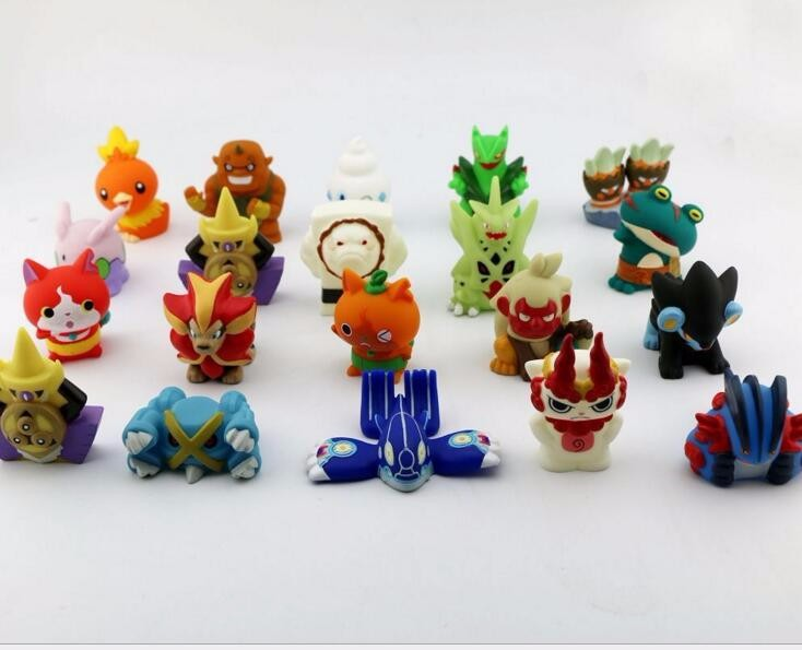 10pcs/lot Japanese Anime Yo-Kai Watch Yokai Youkai 4-5CM Action PVC Figures Kids Toys JIBANYAN SHURAKOMA SHMOOPIE(China (Mainland))
