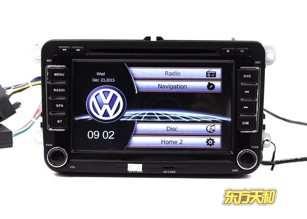 OEM VW Car Radio CD Player for VW with Built in GPS Bluetooth Support USB SD Card Ipod Logo Switch Multi Language(China (Mainland))