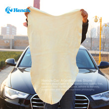 Free Shipping Drying Cleaning Towel Natural Genuine Leather Chamois Shammy Sponge cloth Sheepskin Absorbent Towel Car Washing(China (Mainland))