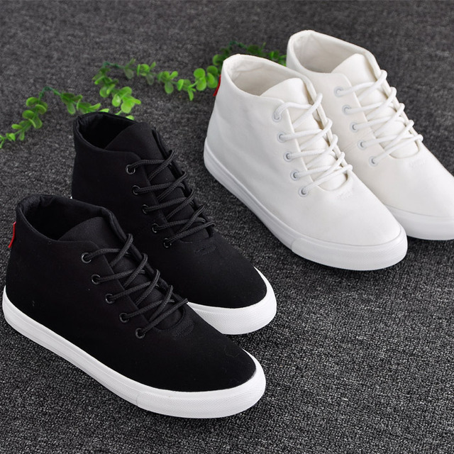 2016 весной плоские холст женский маленькие белые туфли опрятный стиль шнуровкой ...