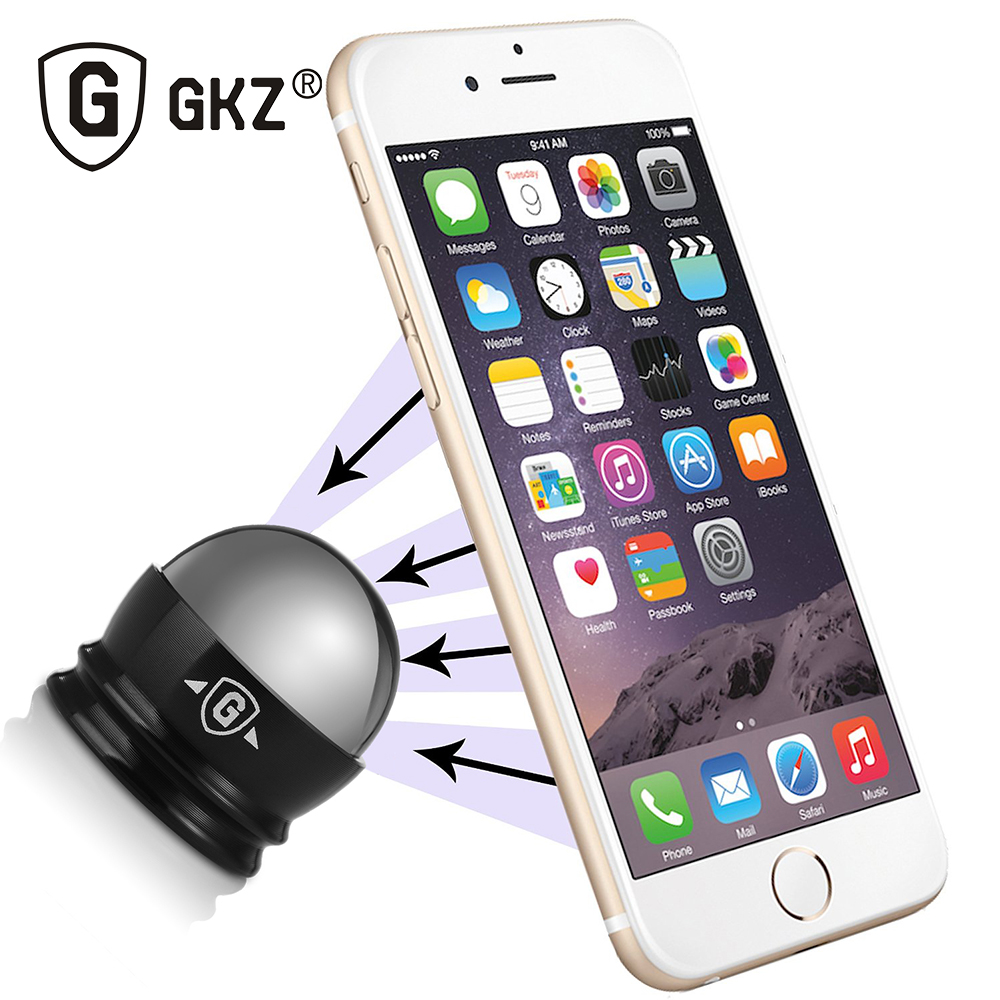 GKZ ST1 Car Phone Holder 360 Degrees Magnet Mobile Phone Holder Steelie Magnetic Car Dashboard Phone Mount Steelie Car Kit(China (Mainland))