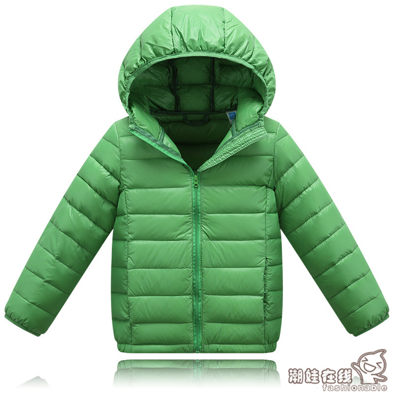 Children solid Down Packable baby girls boys zipper hooded portable warm coat<br><br>Aliexpress