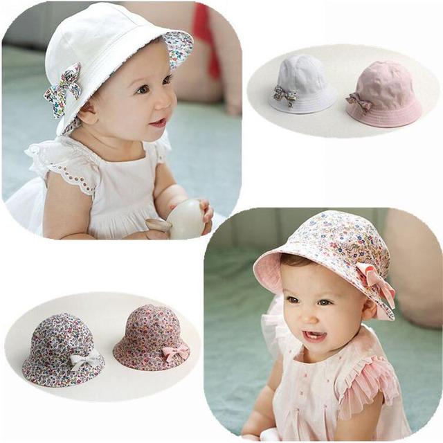 قبعات أطفال Fleur-de-coton-imprim%C3%A9-b%C3%A9b%C3%A9-%C3%A9t%C3%A9-chapeau-avec-arc-blanc-rose-enfants-Summer-Girl-Cap-Double.jpg_640x640