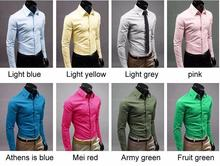 2015 New  Fashion Men Shirt Long Sleeve Mens Shirts Camisa Slim Fit Masculina Social Chemise Homme Mens Dress Shirt