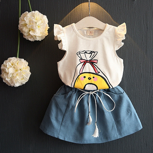 kids fashion clothes sets brand designer girls summer outfits T-SHIRT +pants 2 pcs streetwear cute girl garment(China (Mainland))