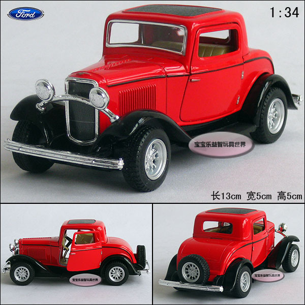 1:34 red FORD 1932 webworm red alloy car models free air mail
