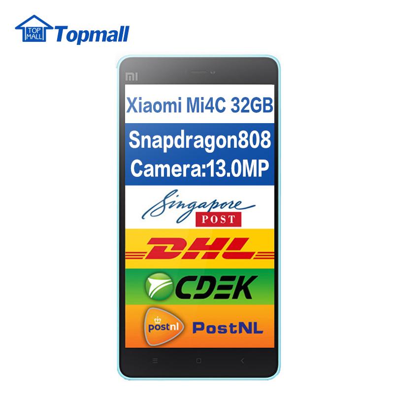 Original Xiaomi Mi4c mi 4c cell phone Prime Qualomm Snapdragon 3GB RAM 32GB ROM 3080mAh google play(China (Mainland))