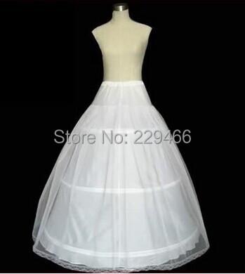 P1 паффи свадебные нижняя юбка с три обруча один обычный размер